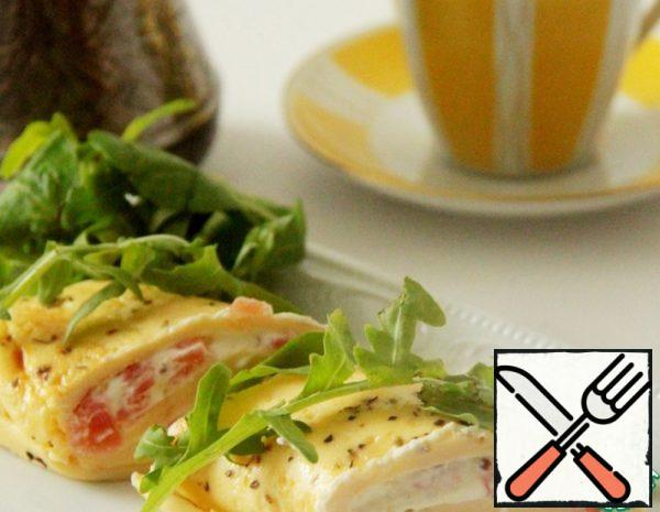 Omelet Roll with Trout Recipe