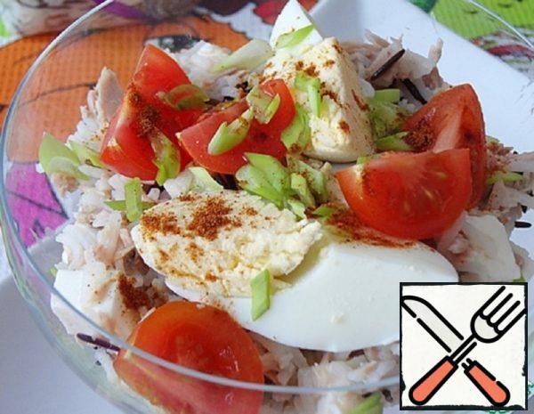 Warm Salad with Tuna and Cheese Recipe
