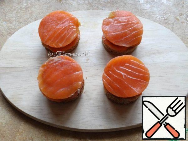 Put salmon again;