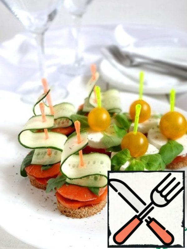 Goat Cheese Canapes and Salmon Canapes Recipe