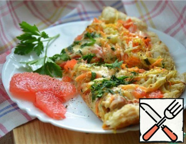 Pizza with Chicken and Grapefruit Recipe