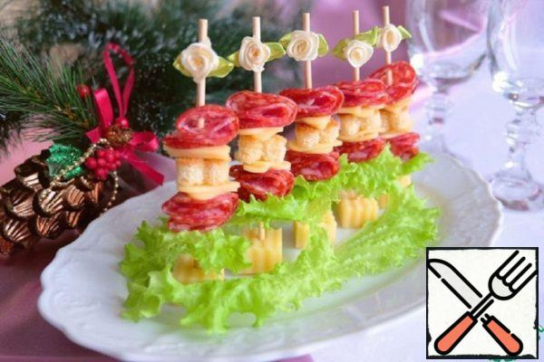 "Canapes ""Two cheeses"" Recipe"