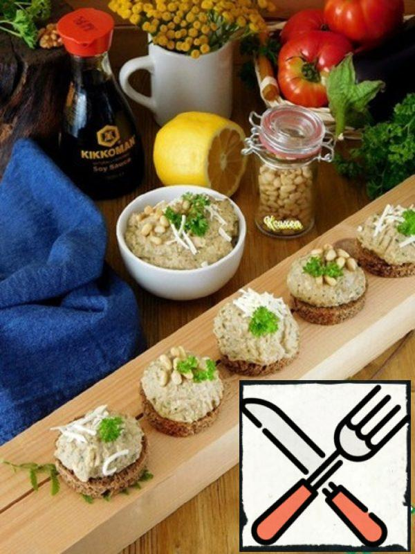 Canapes with Baked Eggplant Recipe