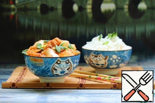 Stir Fry of Chicken and Kimchi Recipe