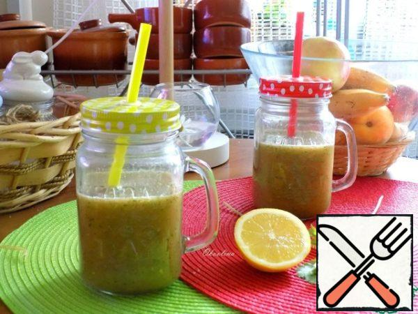 We'll drink it through straw.