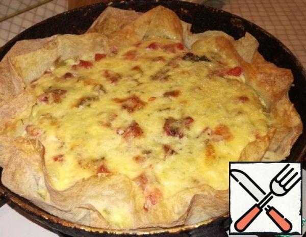Omelet in Pita Bread Recipe