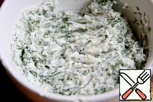 Add greens, stir.