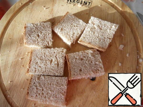 Rye bread cut into small pieces. Spread the sandwiches with the mixture. Garnish with pomegranate seeds and coriander.