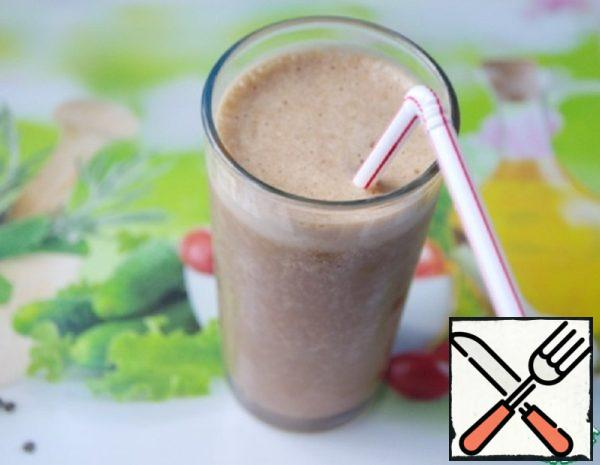 A Smoothie with Cacao, Banana and Coffee Recipe