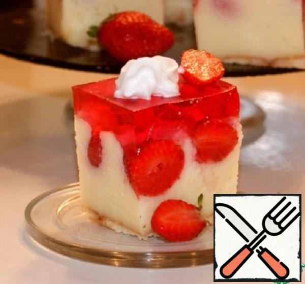 Unusual Cake with Strawberry Jelly Recipe