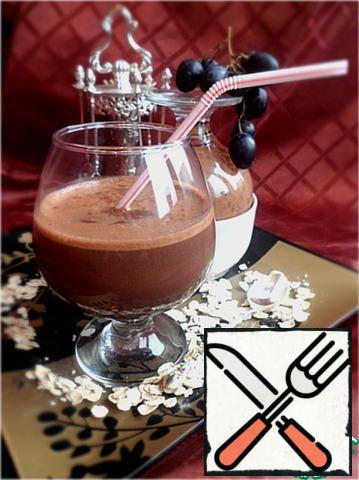 Depending on the density of hot chocolate serve it in a glass with a tube or in a Cup and eat with a spoon.