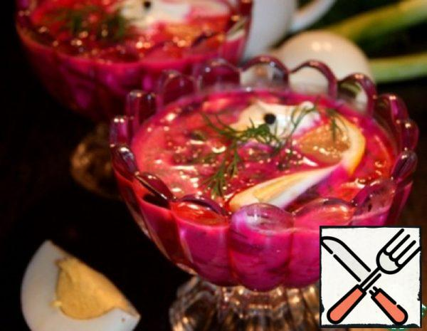 Cold Beetroot Soup with Yogurt Recipe
