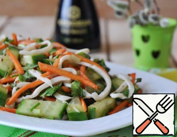 Chinese Salad of Cucumbers and Squid Recipe
