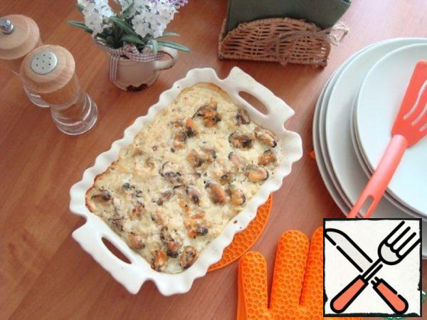 Rice Casserole with Mussels Recipe