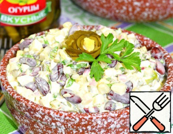 Salad with Beans and Cucumber Recipe