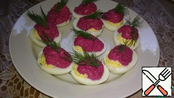 Eggs Stuffed with Herring Caviar Recipe