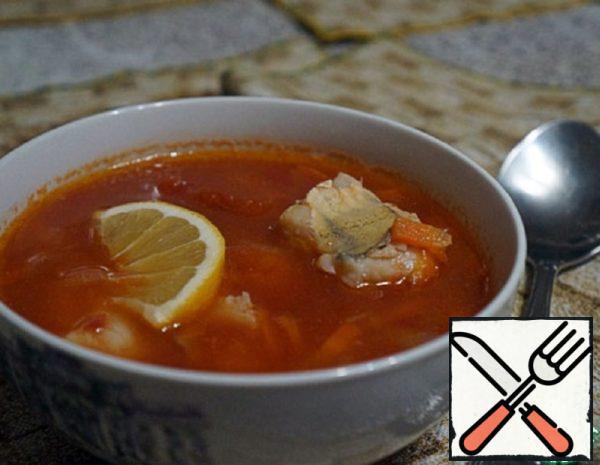 Tomato Soup with  Pike Perch Recipe