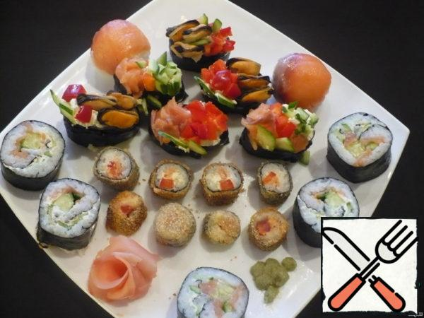"Maki, Sushi and Roll ""Mosaic"" Recipe"