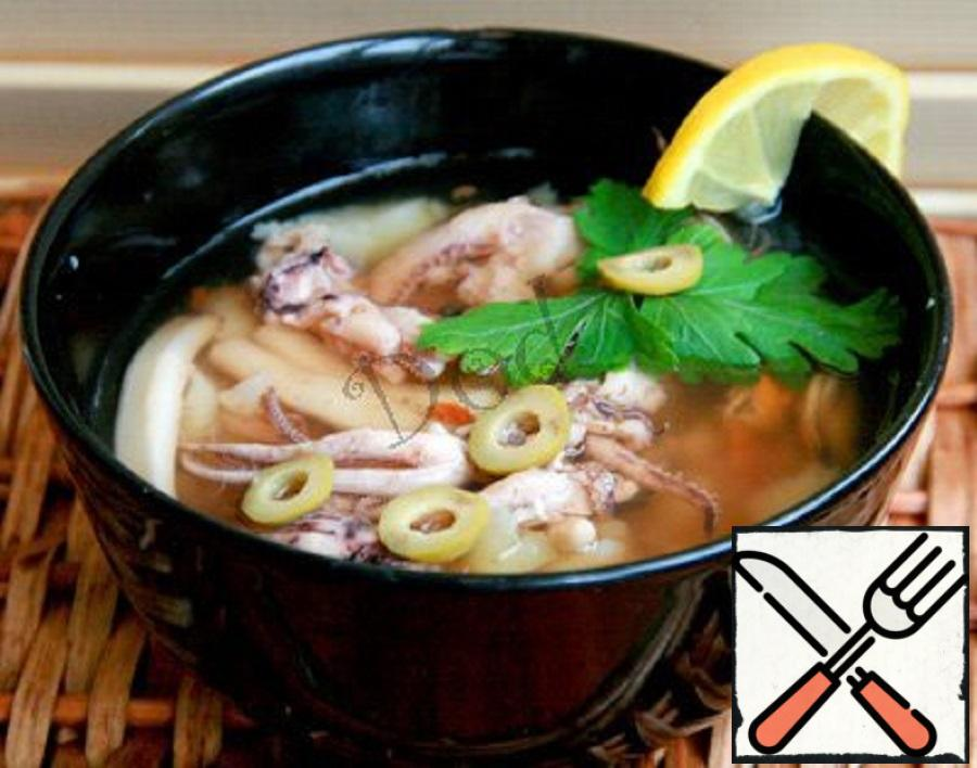 что суп из морского коктейля рецепт с фото прощальное фото