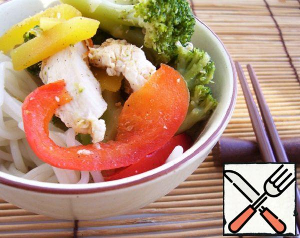 Chicken with Vegetables in Chinese Style Recipe