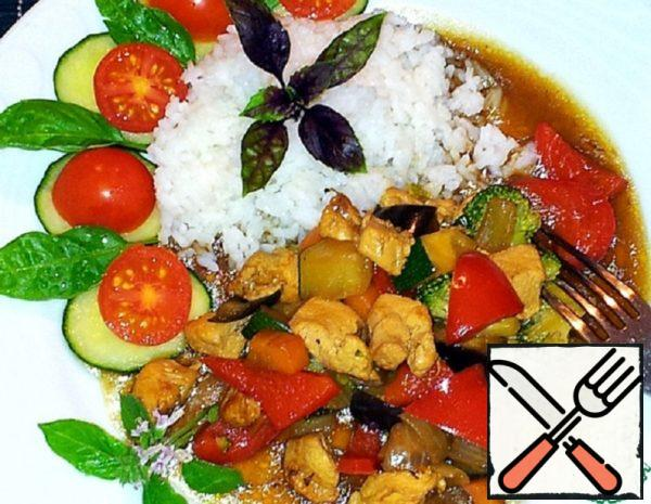 Vegetables with Chicken in Oyster Sauce Recipe