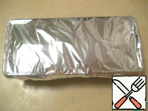Close the top tightly form foil.