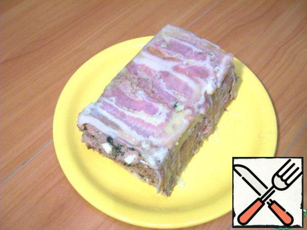 So, the output I got here is a terrine, cooled and extracted from the mold.