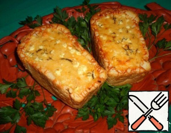 Cheese-Vegetable Julienne in White Bread Recipe