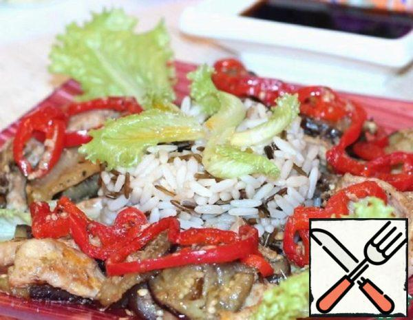 Pork with Eggplant and Peking Rice Recipe