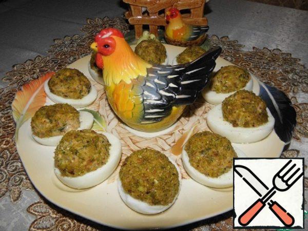 """Eggs Stuffed """"Tuna in Pistachios"""" Recipe"""