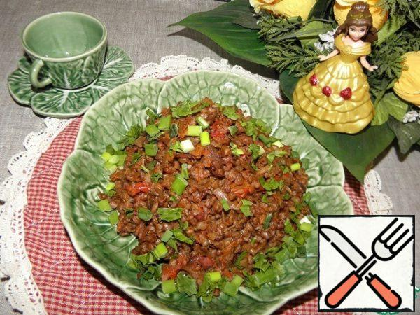Sprinkle with herbs, tasty and hot and cold. Good as a separate dish, and also with any meat products. The dish is ready!