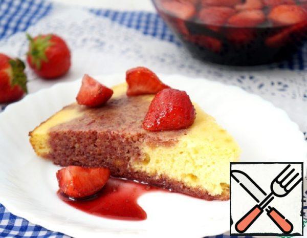 Lemon Pie with Srawberries in Wine Recipe