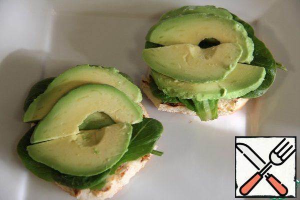 Then sliced avocado.