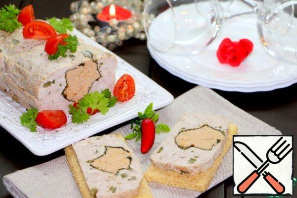 Cut the terrine into slices and serve. Bon appetit!!!