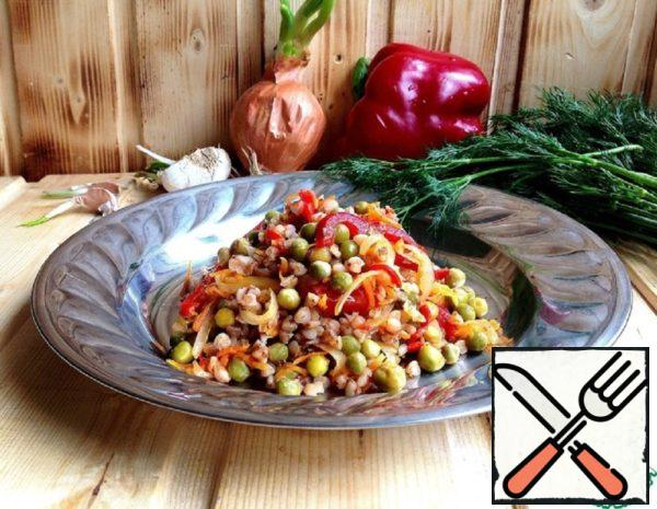 """Buckwheat with Vegetables """"Simple and Tasty"""" Recipe"""