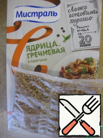 A bag of buckwheat ( I'm from Mistral) put to cook according to the instructions on the package.