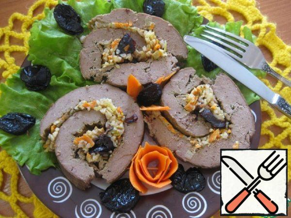 Liver Roll with Buckwheat and Prunes Recipe