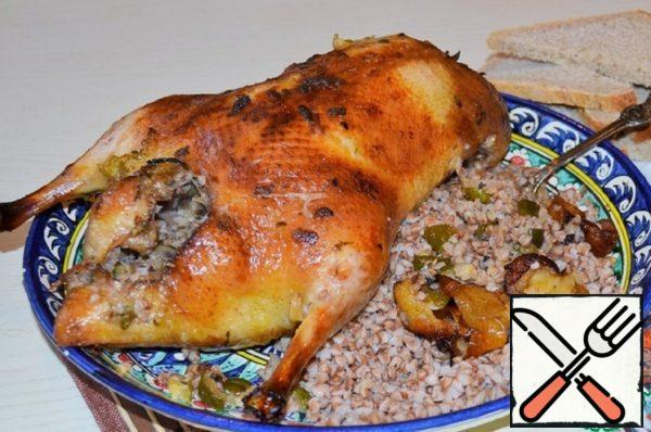 Duck with Buckwheat and Cucumbers Recipe