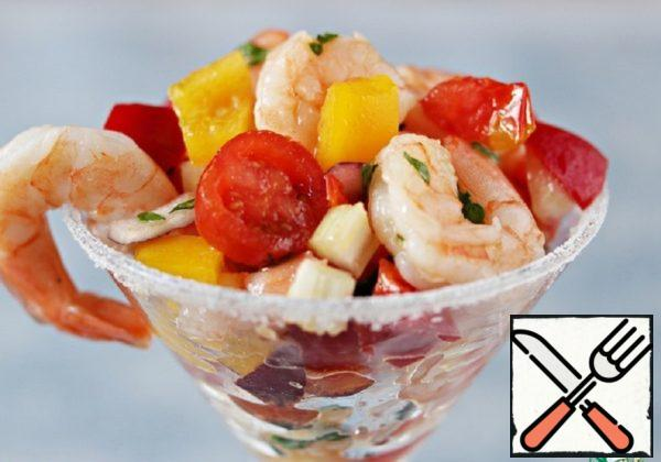 Salad with Shrimp and Vegetables Recipe