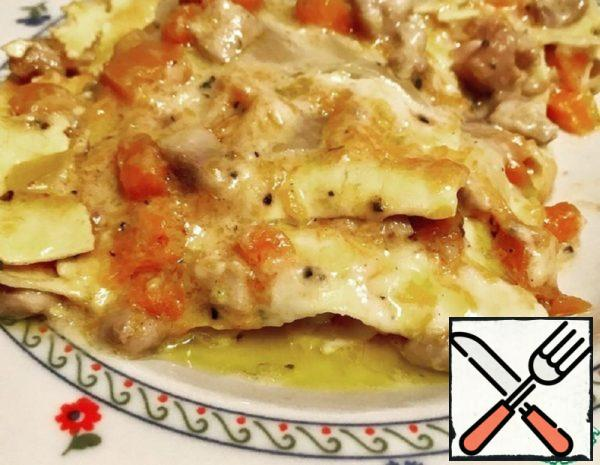 Lasagna with Pumpkin and Chicken Recipe