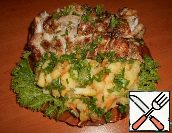 Breast with Vegetables Baked in the Oven Recipe