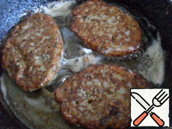 Fry on both sides until ready.