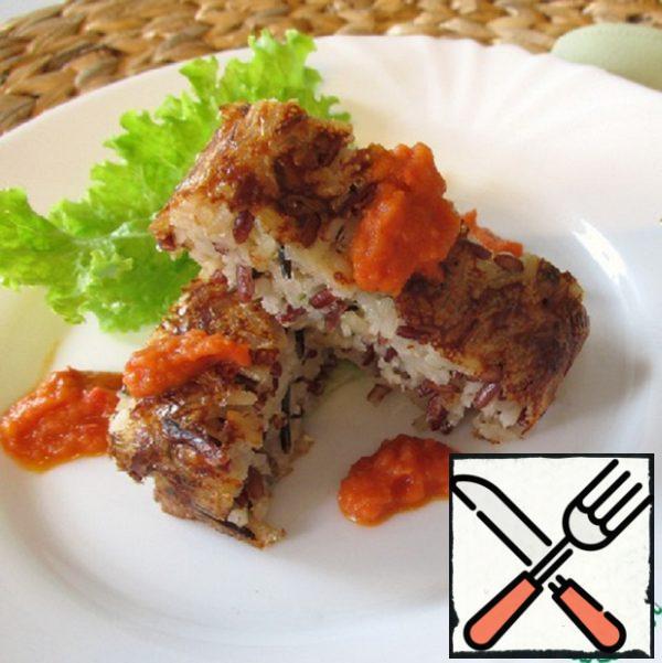Terrine with Wild Rice and Tomato Sauce Recipe