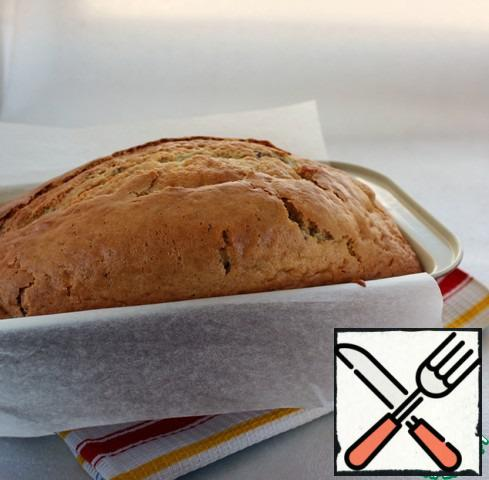 Bake in a well-heated oven at 180 degrees for about 1 hour, check the readiness for a dry match.