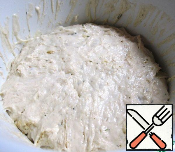 Without removing the film, put the dough in the refrigerator overnight, where it will settle and get the desired consistency.