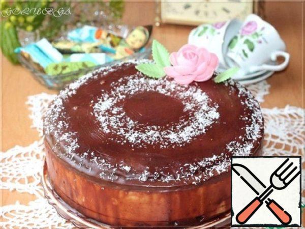 """Cake """"Bird's Milk""""on Brownie Recipe"""