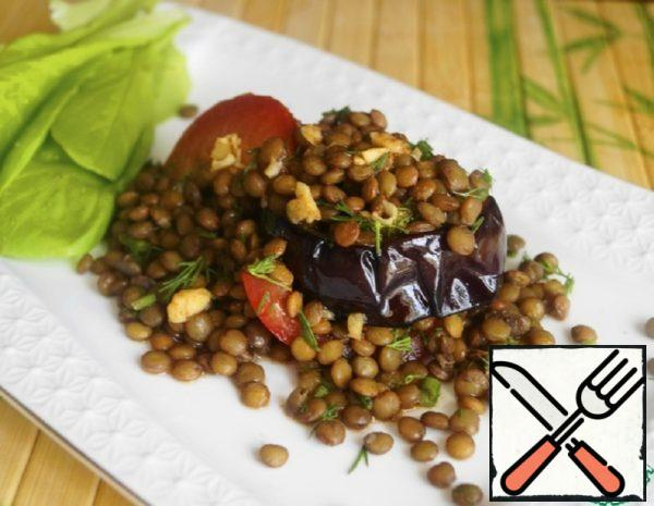 Salad with Eggplant and Lentils Recipe