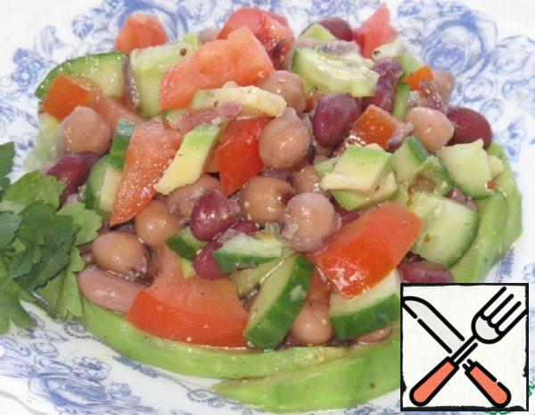 Salad with Red Beans and Chickpeas Recipe