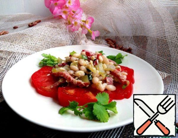 Salad with Beans, Pickles and Sausage Recipe