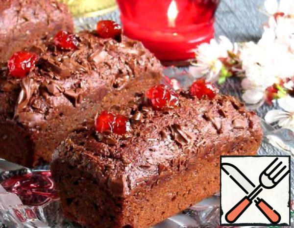 Beetroot Brownies with Cherries and Almonds Recipe